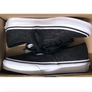 Vans Authentic Glitter & Iridescent Black Shoes